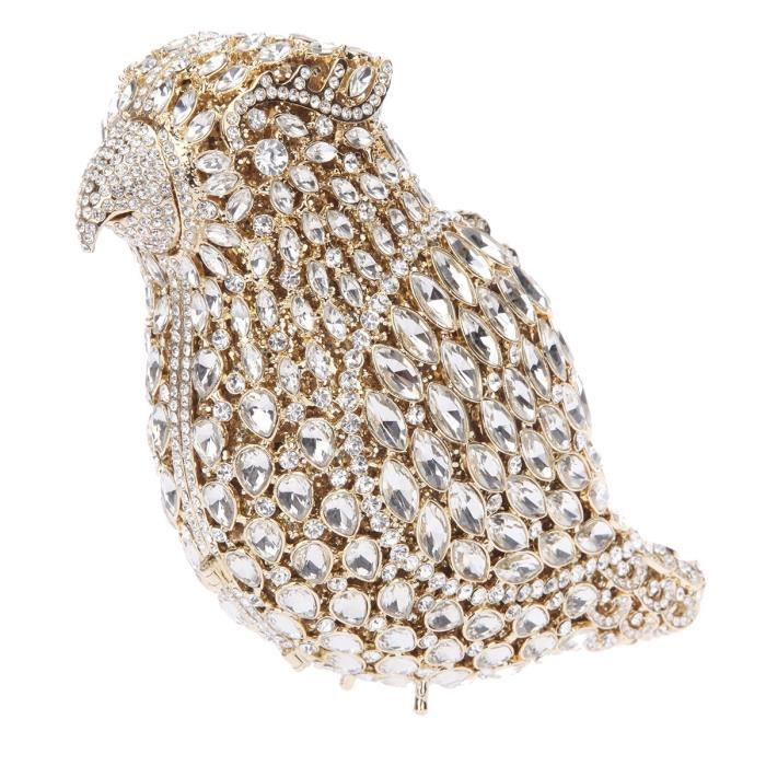 Crystal Parrot Clutch Purses For Evening Bag YPF3X