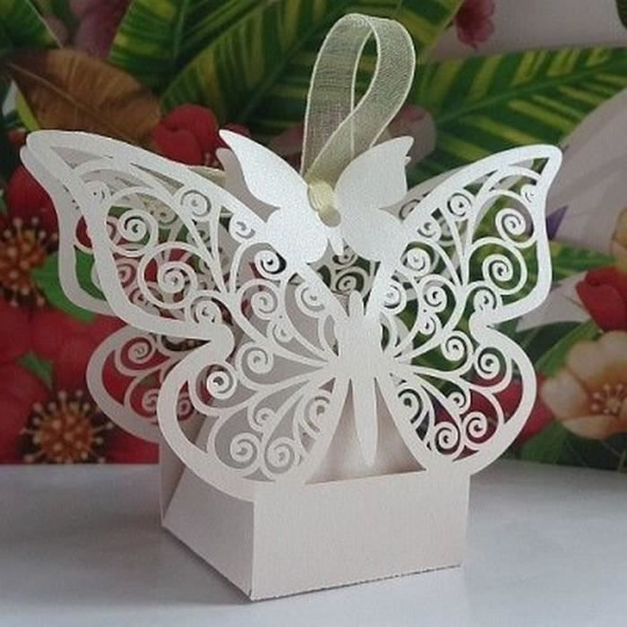 Papillon bo te drag es d co mariage bapteme lot de 10 achat vente bo te drag es - Soldes decoration mariage ...