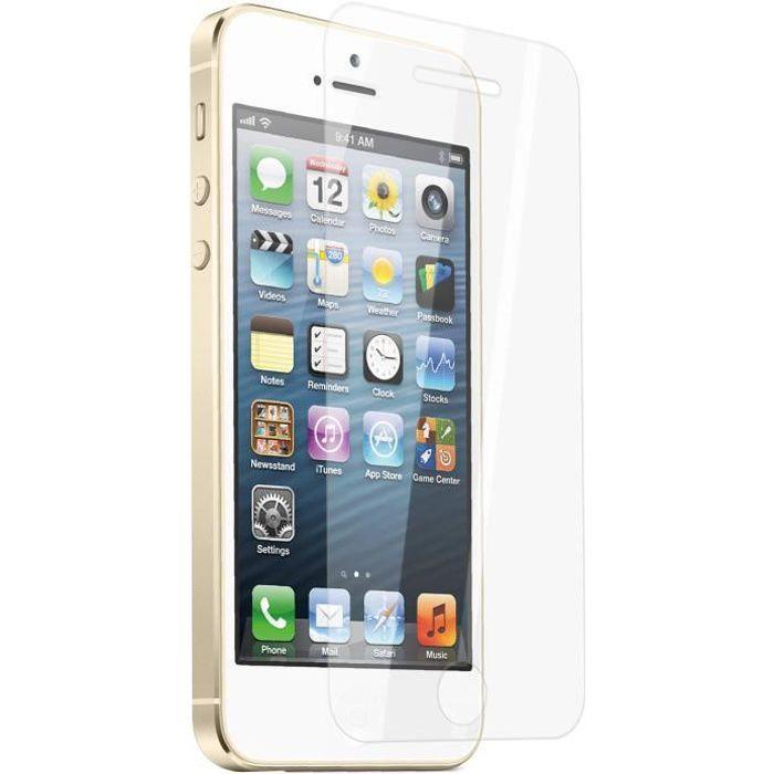film prot ge ecran verre tremp apple iphone 5 5s achat film protect t l phone pas cher avis. Black Bedroom Furniture Sets. Home Design Ideas