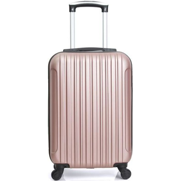 VALISE - BAGAGE HERO - Valise Cabine Or Rosé 50x35x20 cm 4 Roues A