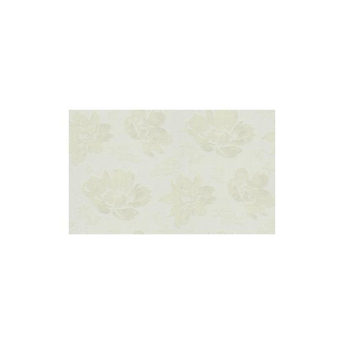 Papier Peint Motif Pivoines En Relief Blanc 10 M X 0 53 M Achat