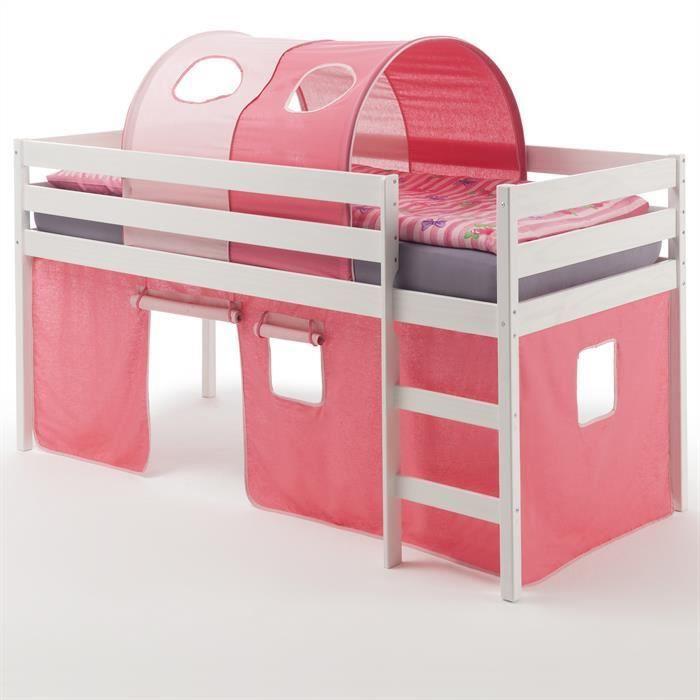 lit mezzanine fille achat vente lit mezzanine fille pas cher cdiscount. Black Bedroom Furniture Sets. Home Design Ideas