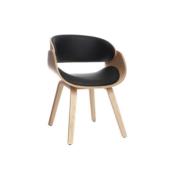 Miliboo Chaise Noir Bent Design Et Clair Bois 5Ajc34RLSq