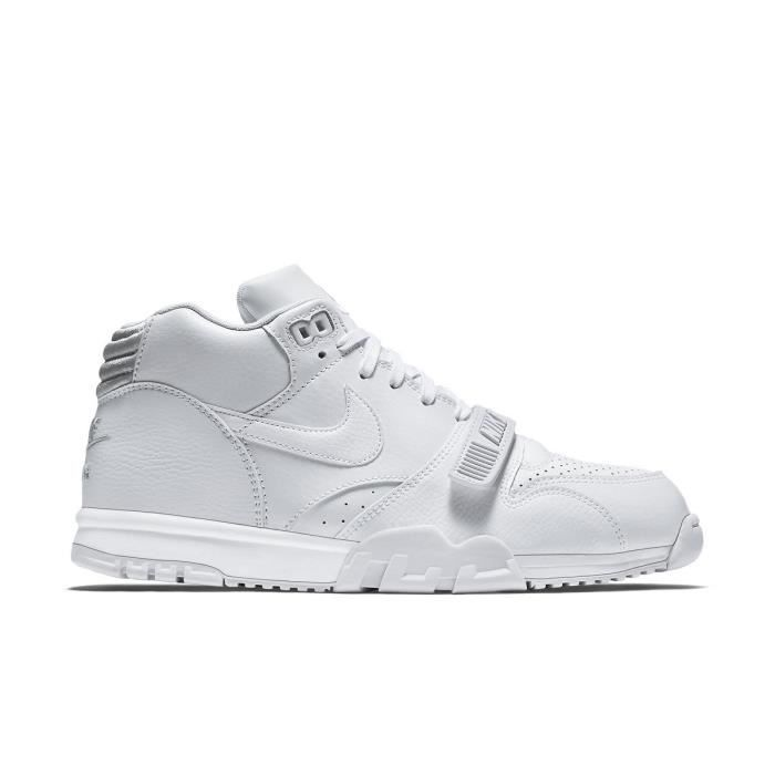 low cost 739e2 aaaa5 Basket Nike Nike Air Trainer 1 Mid 317554-102-43 1/2 Blanc - Achat ...