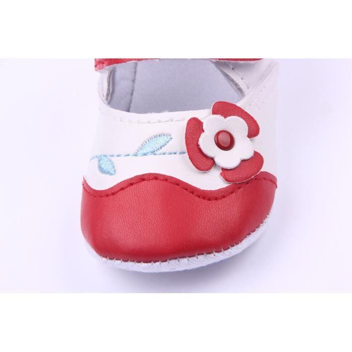 BOTTE Bébé nouveau-né bébé Floral Print Sneaker antidérapant doux Sole Toddler Chaussures@Blanc kdZiUwIXV9