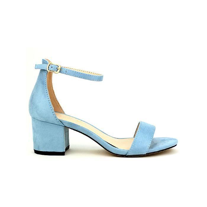 48e75645d7bc Sandale - nu-pieds, Sandales Bleu Chaussures Femme, Cendriyon Bleu ...