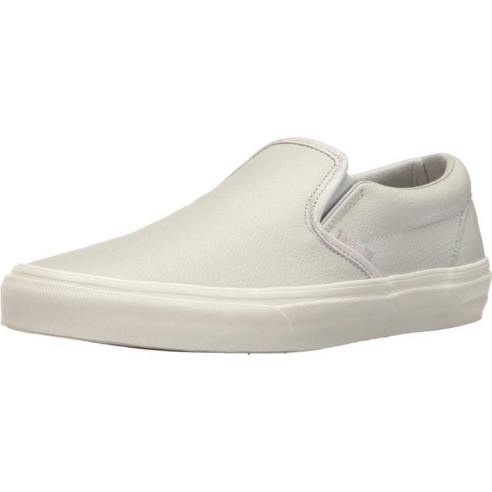 7e7994234b Vans Classic Slip en cuir embossé - glacier Chaussures Gris Chaussures  unisexe adulte ID2CQ Taille-37 1-2