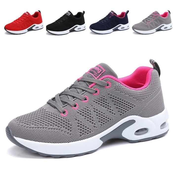 40928eaaa39 Mode respirante Chaussures de marche légères Chaussures de course Athletic  Tennis Us5.5-10 B1314 Taille-36 1-2