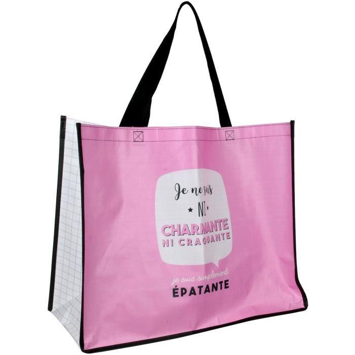 Charmante Course Rose Je Collection Shopping Sac Pour Suis Cabas w5Cqnz0