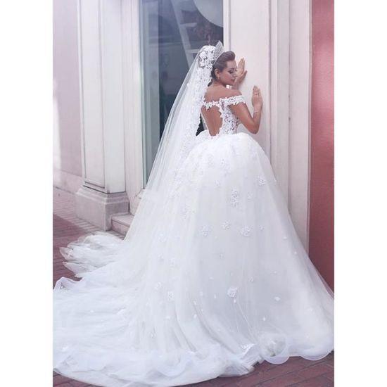 Robe mariage longue dentelle