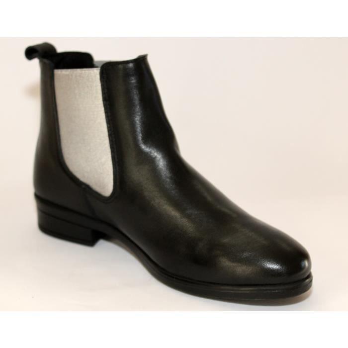 Vice-Roi High Cut Cowgirl Snip Toe Western Bottes en cuir noir ERGQI Taille-38 CmiuT