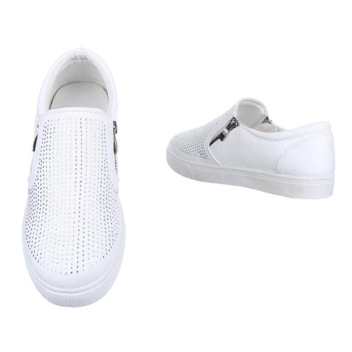 femme chaussure basse mocassin chaussures avec Strass