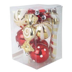 BOULE DE NOËL Lot de 12 boules de Noël + suspension de Noël Ø 5