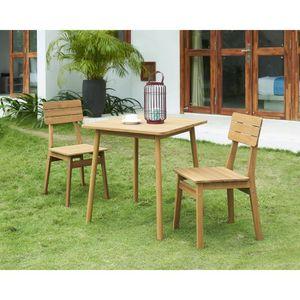 Table et chaise de jardin en bois 2 place(s) - Achat / Vente ...