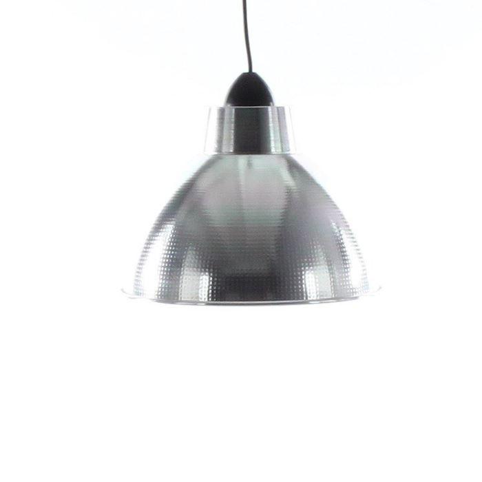 Suspension Alu - Aluminium brillant ø30 cm longueur réglable max 100cmLUSTRE - SUSPENSION