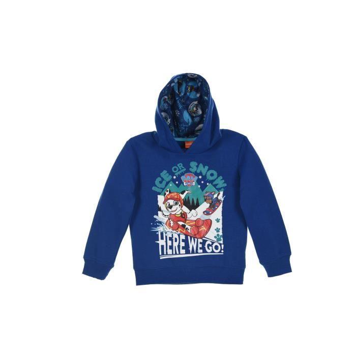 PAT'PATROUILLE Sweatshirt à capuche - Enfant garçon - Bleu marine