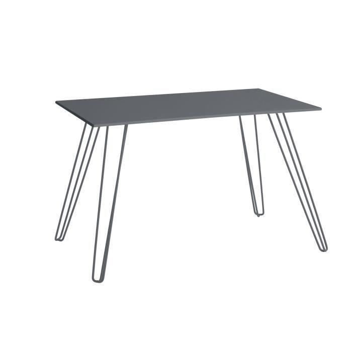 En acier galvanisé et panneaux de particules - Dimensions : 140 x 80 x 70 cm - Coloris : gris anthracite.TABLE DE JARDIN VENDUE SEULE