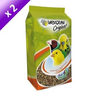 VADIGRAN Lot de 2 Mélanges de graines Original de santé pour oiseaux 800g