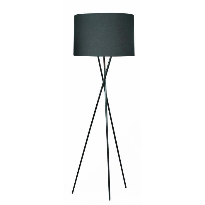 TRIDENT lampadaire trépied noir