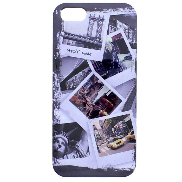 TNB Coque pour iPhone 5 / 5S + protection d'écran - Rigide