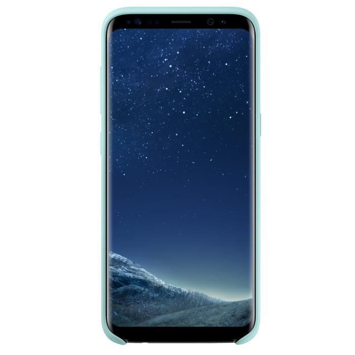 Samsung Coque Silicone S8+ Bleu
