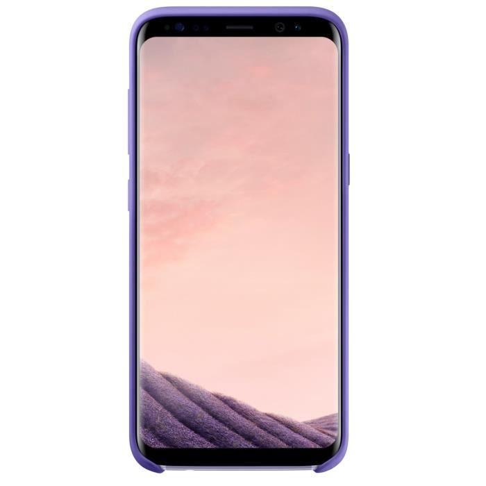 Samsung Coque Silicone S8+ Violet
