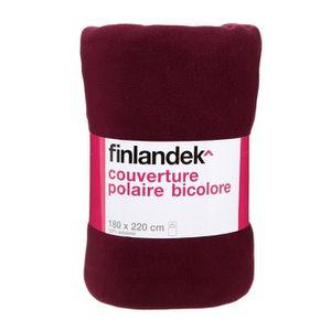 TOUT SIMPLEMENT Couverture polyester - Prune / fuschia