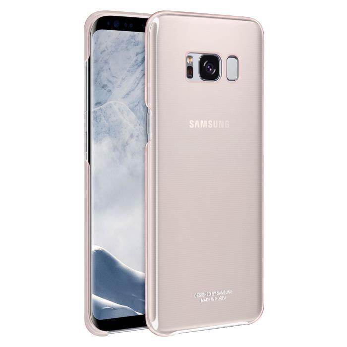 Samsung Coque transparente ultra fine S8+ Rose