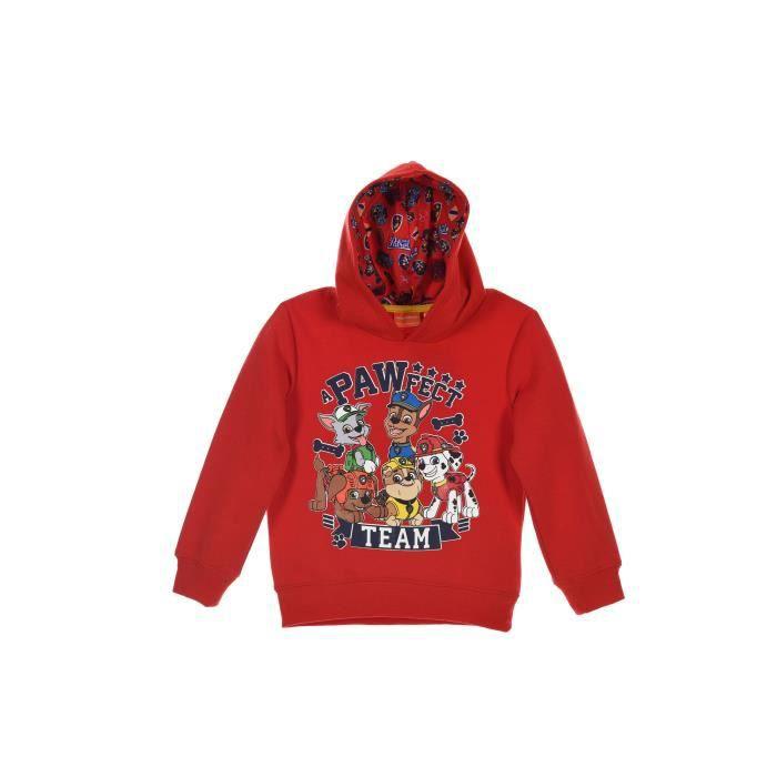 PAT'PATROUILLE Sweatshirt à capuche - Enfant garçon - Rouge