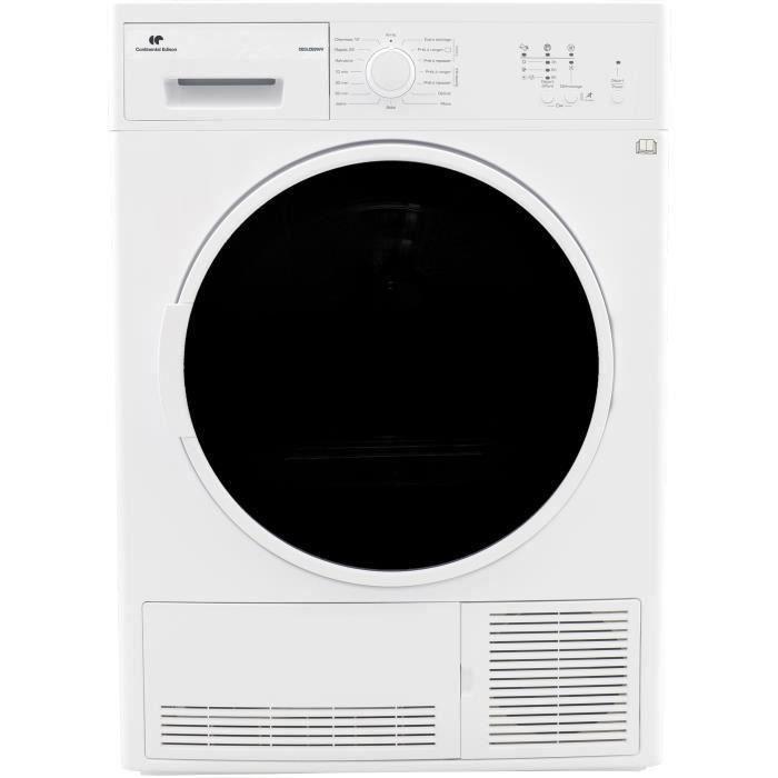 CONTINENTAL EDISON - SLCE8WV - Sèche-linge - 8kg - Condensation Electronique - B - Blanc