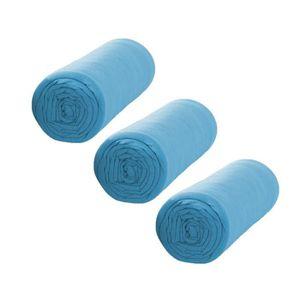 TODAY Pack de 3 Draps Housse 100% coton 140x190 cm mer du sud