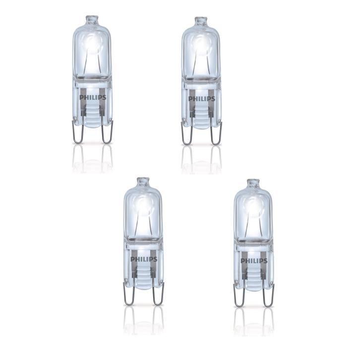 PHILIPS Lot de 4 ampoules Ecohalo G9 42 W équivalent à 60 W