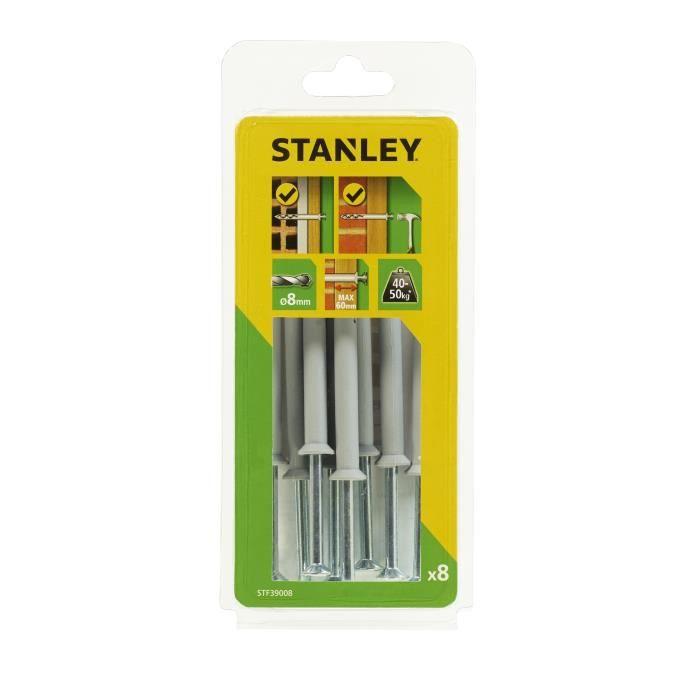 STANLEY Kit de 8 chevilles à frapper ø 8x100 mm STF39008-XJ