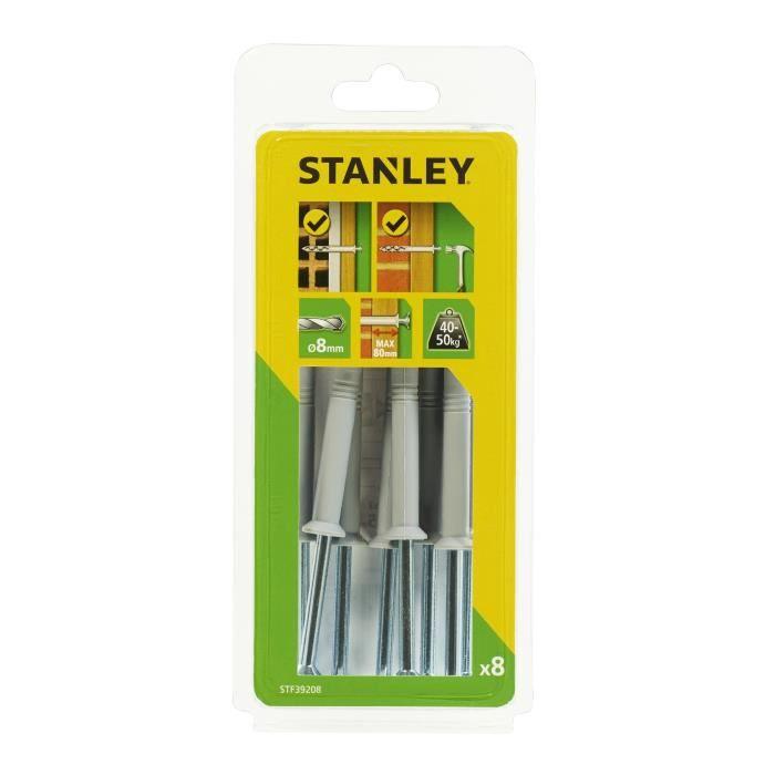STANLEY Kit de 8 chevilles à frapper ø 8x120 mm STF39208-XJ