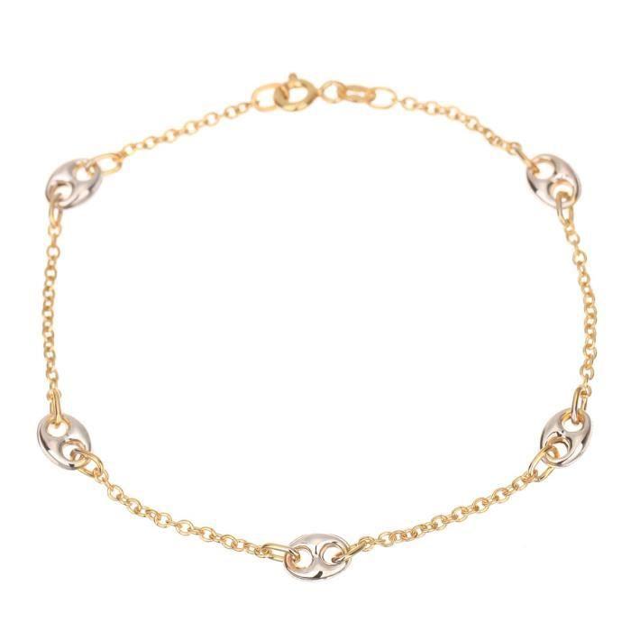 LES BIJOUX DEMMA Bracelet Or Bicolore 375° Femme