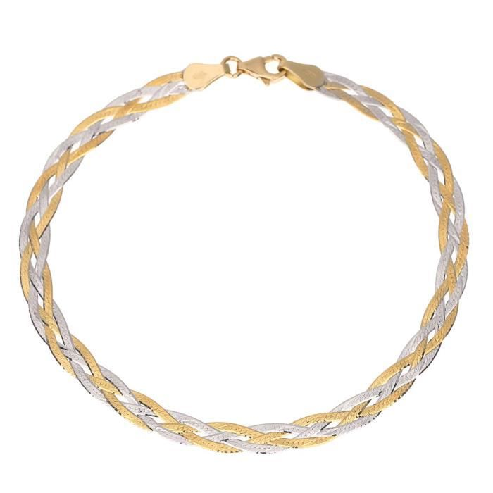 BRACELET - GOURMETTE Les Bijoux d'Emma - Bracelet Tresse  - OR 9CT
