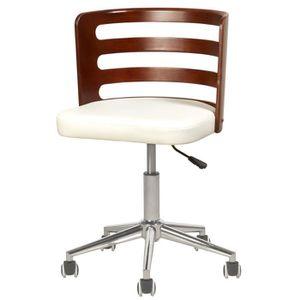 CHAISE DE BUREAU SAMANTHA Chaise de bureau - Simili blanc - Style c