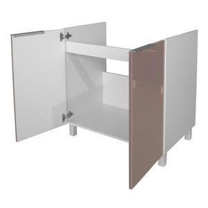 Meuble sous evier hauteur 80 cm achat vente meuble for Meuble evier 80 cm
