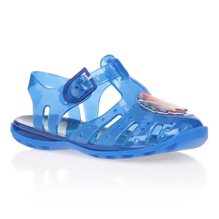 SPIDERMAN Sandales de Plage Bleu Imprimé Enfant Garçon