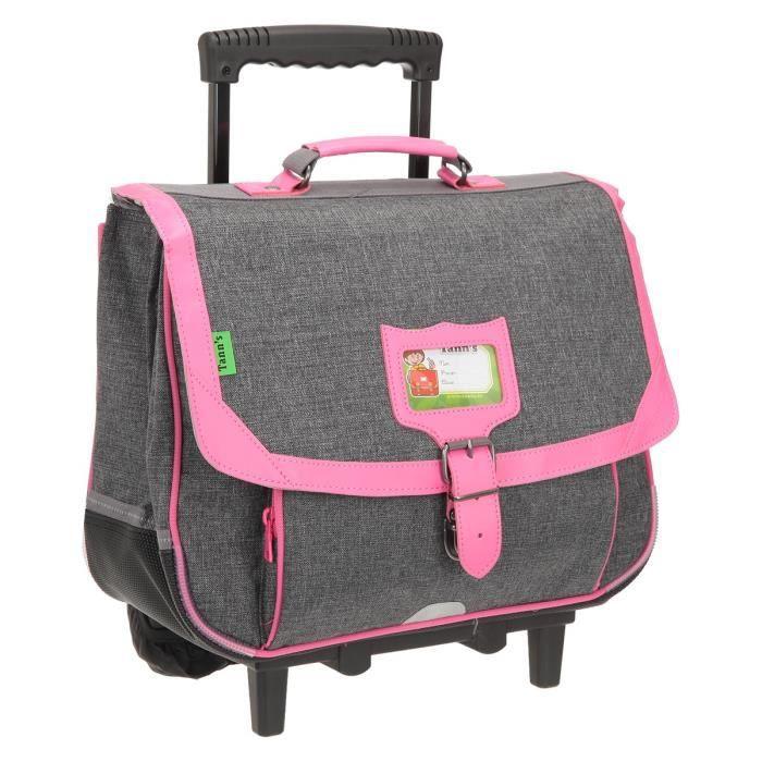 Cartable à roulettes Tann's Chiné 41 cm Chiné/Neon Pink gris V6yeTz