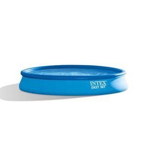 PISCINE INTEX Kit piscine ronde autoportée Easy Set - 457,