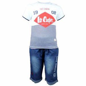 Ensemble de vêtements LEE COOPER  - Ensemble T-shirt Blanc et Marine Ray
