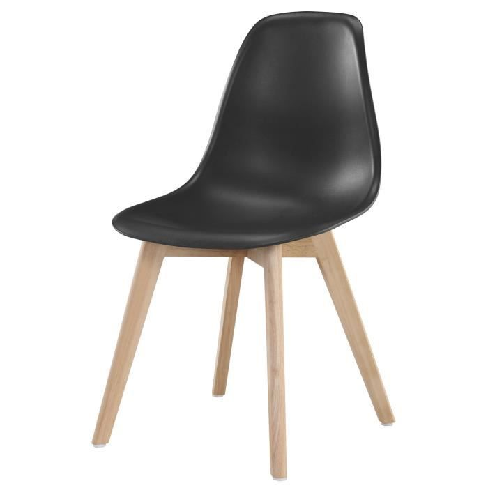 chaises scandinaves noires achat vente pas cher. Black Bedroom Furniture Sets. Home Design Ideas