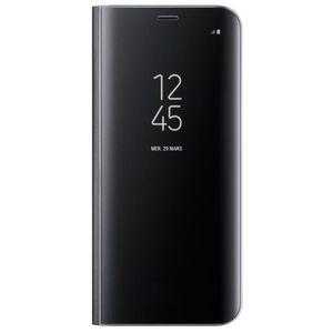 COQUE - BUMPER Samsung Clear View cover Stand Noir pour Galaxy S8