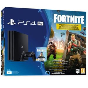 CONSOLE PS4 PS4 PRO Noire 1 To + Fortnite