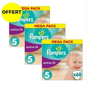COUCHE PAMPERS Active Fit Taille 5 - 11 à 25 kg - 204 cou