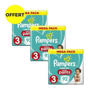 COUCHE PAMPERS Baby-Dry Pants T3 6-11kg - 276 Couches-cul