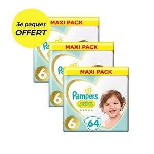 COUCHE PAMPERS Premium Protection Taille 6 - 192 couches
