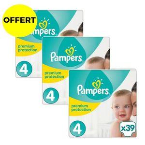 COUCHE PAMPERS Premium Protection Taille 4 - Lot de 3 Géa