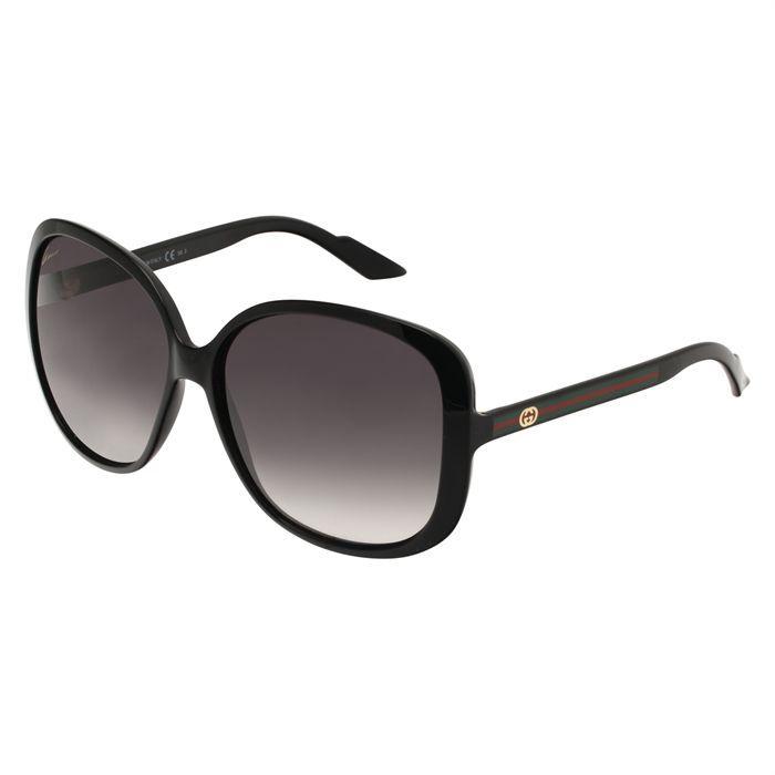 gucci lunettes de soleil femme noir achat vente lunettes de soleil femme soldes d s le 27. Black Bedroom Furniture Sets. Home Design Ideas